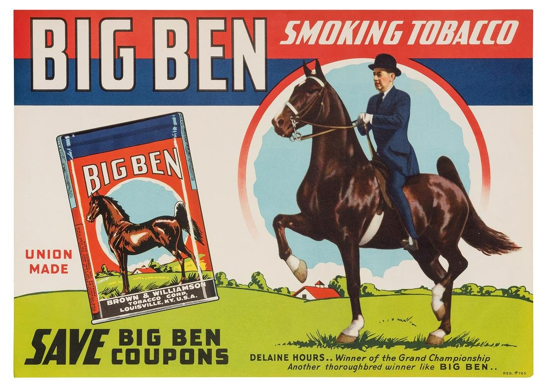 Big Ben Smoking Tobacco / Delaine Hours Advertising