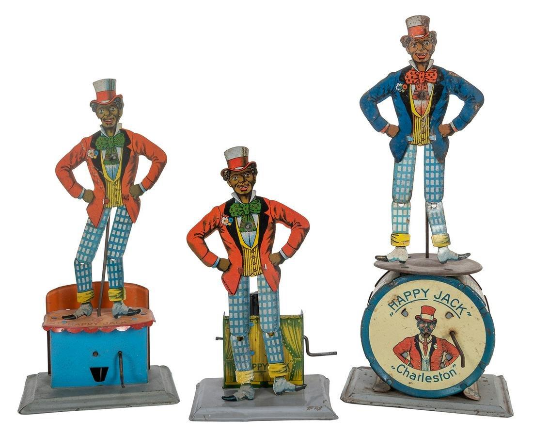 Happy Jack Tin Minstrel Dancing Toys. 3 pcs.