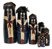 Black Americana Nesting Dolls