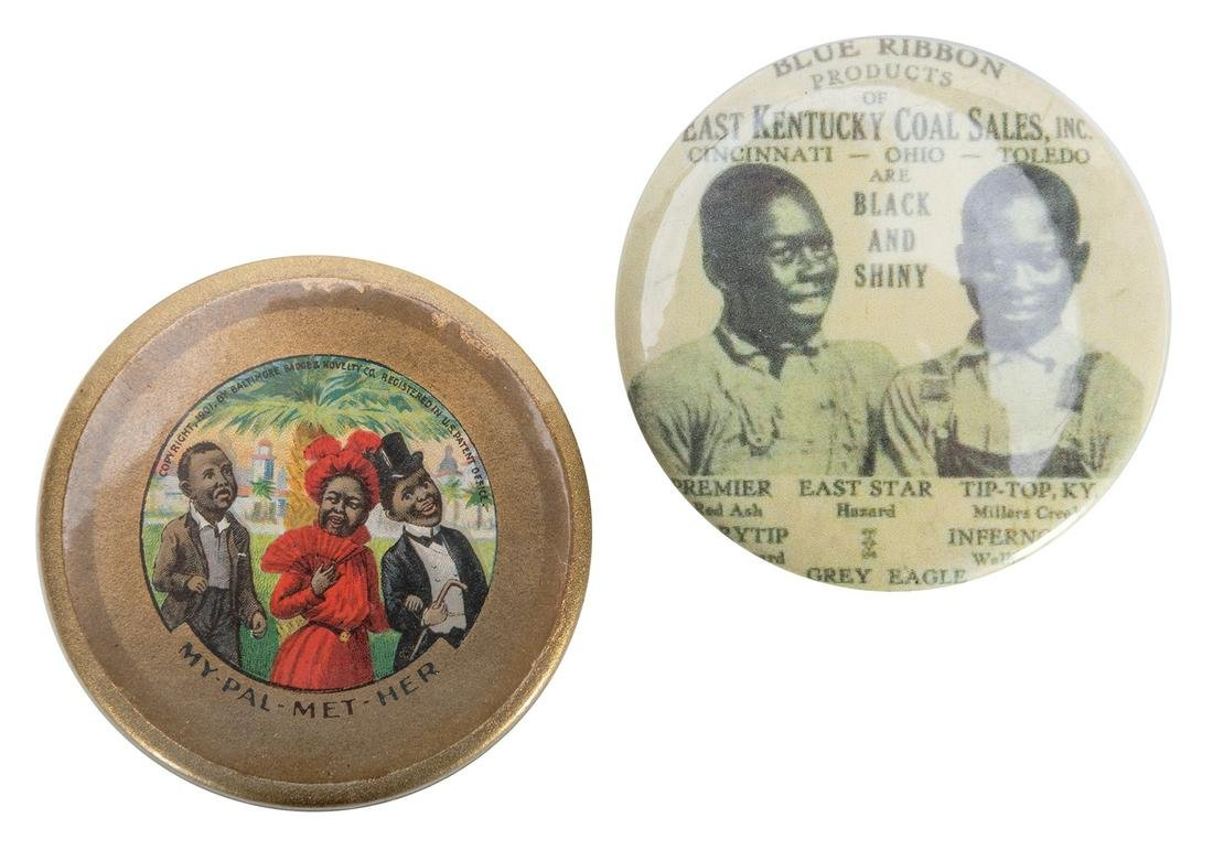 Black Americana Pocket Mirrors. 2 pcs.