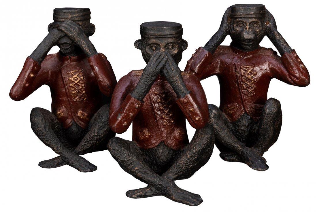 Cast Iron Three Wise Monkeys.