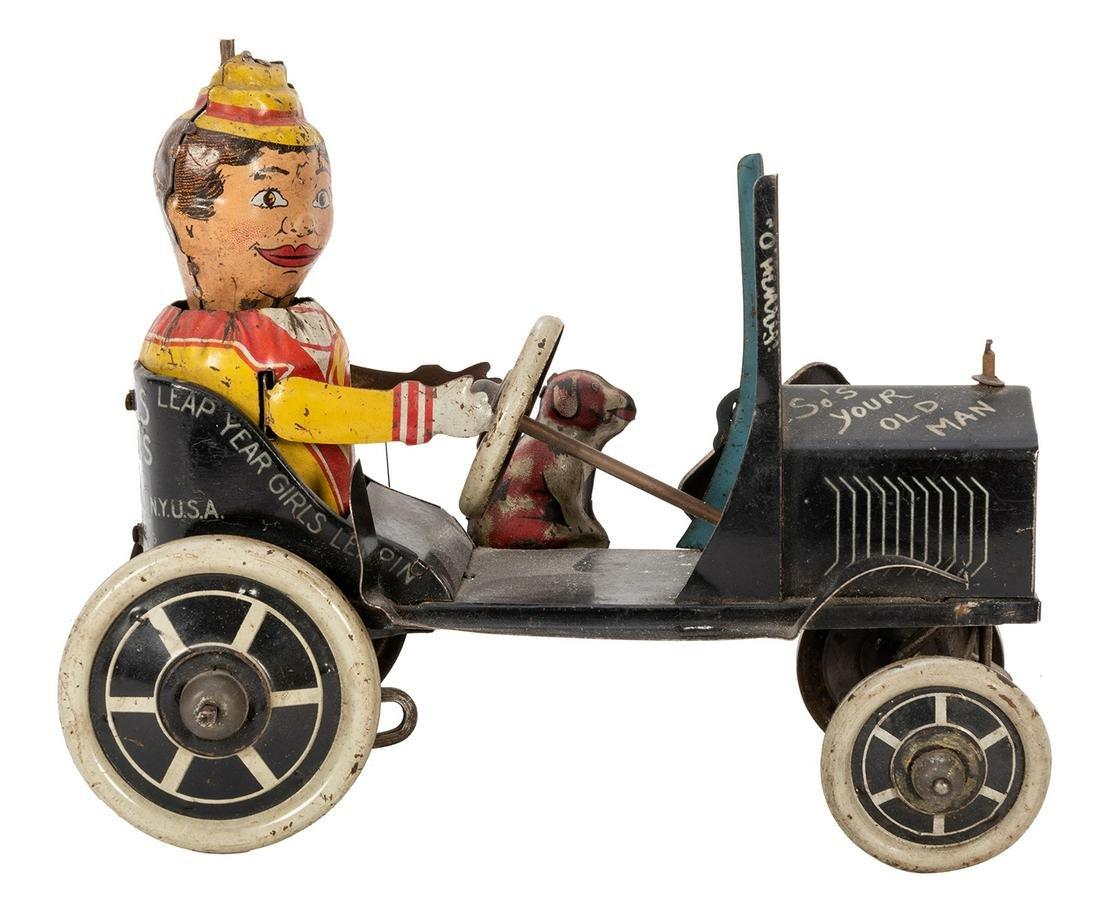 Marx Funny Flivver Wind-Up Crazy Car.