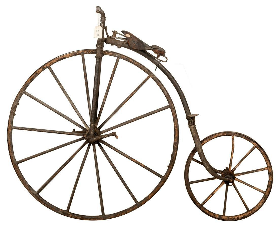 Nineteenth Century Penny Farthing / High Wheel Bicycle.