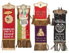 Group of Fraternal Lodge Ribbons 4 pcs