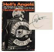 Hells Angels Signed by Hunter Thompson