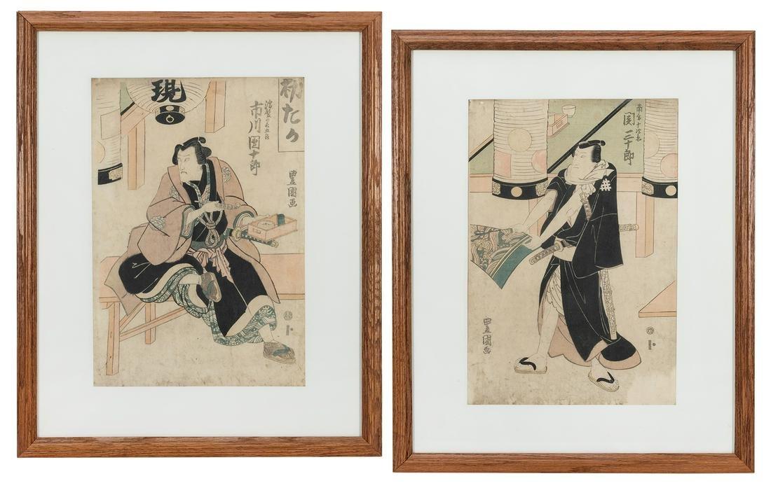 Pair of Kabuki Actor Woodblock Prints.