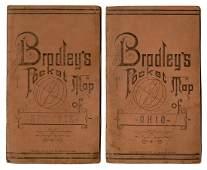 Pair of Bradley's Pocket Maps of New York and Ohio.