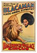 Hagenbeck-Wallace Circus. Blacaman Hindu Animal