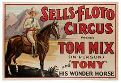 Sells-Floto Circus Presents Tom Mix in Person with His