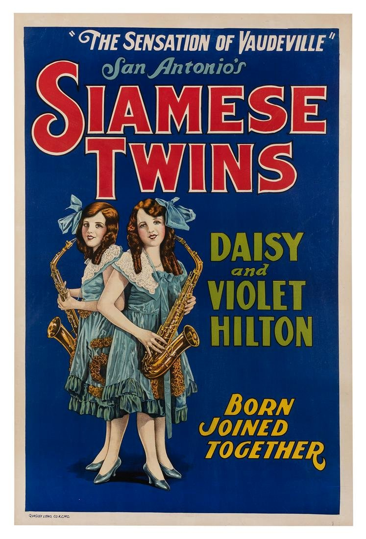 San Antonio's Siamese Twins Daisy and Violet Hilton.