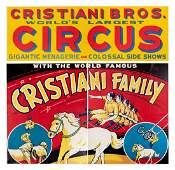Cristiani Bros Circus Billboard Poster