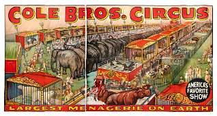 Cole Bros Circus MenagerieGigantic Billboard Poster