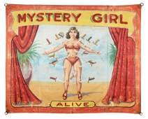 Mystery Girl. Alive. Sideshow Banner.