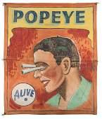 Pop-Eye. Alive. Sideshow Banner.  (2000) 2,000/3,000