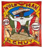 The Wolf Man. Sr. Chuy. Sideshow Banner.
