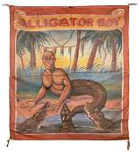 Alligator Boy. Sideshow Banner.