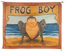 Frog Boy. Sideshow Banner.