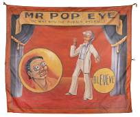 Mr. Pop Eye. Sideshow Banner.