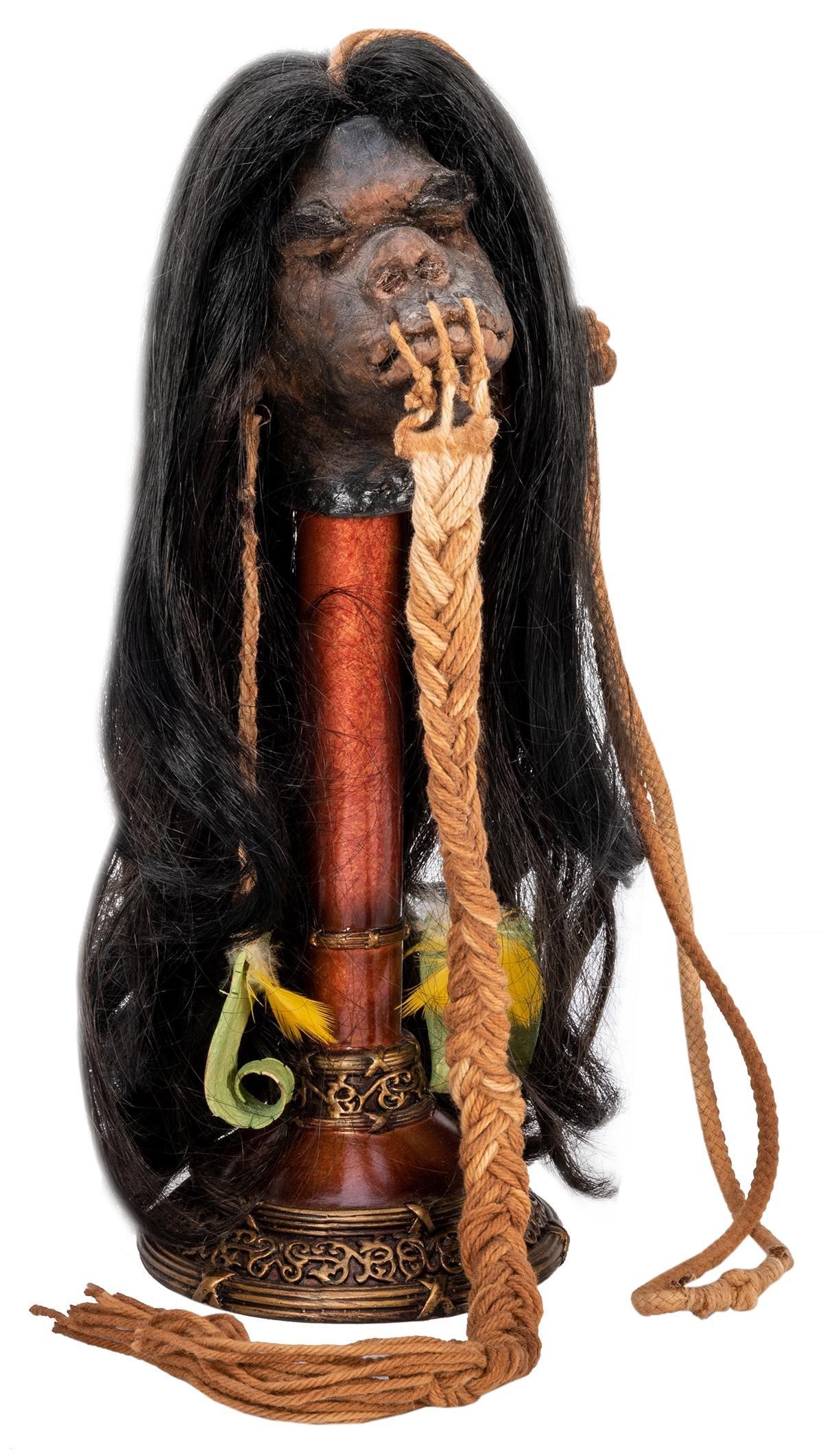 Tsantsa-Type Shrunken Head.