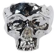 Vintage Metal Desk Skull Bowl.