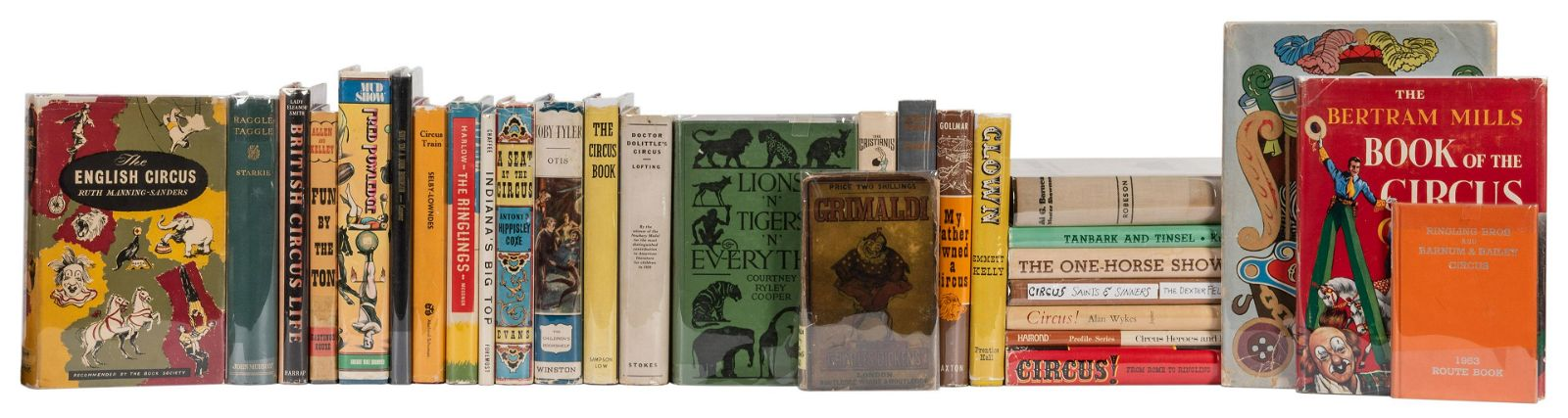 A Large Collection of Circus Related Books.