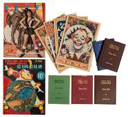 Collection of Circus Route Books and Ephemera.