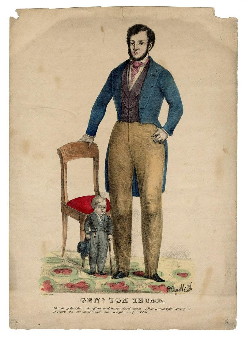 Currier Lithograph of Genl. Tom Thumb.