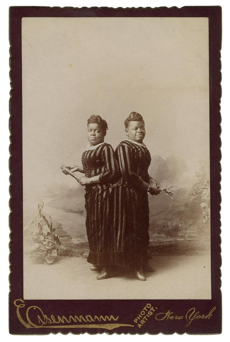 Cabinet Card Photograph of Millie-Christine.