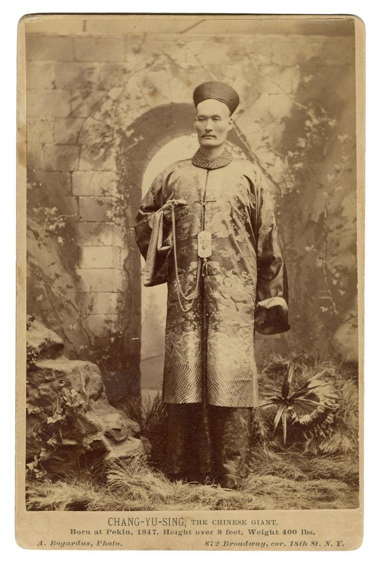 Cabinet Card Photograph of Chang Yu-Sing, the Chinese