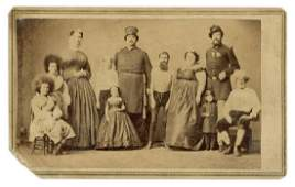 Barnum's Freaks CDV with Museum Cancellation.