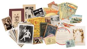 A Large Collection of Circus and Oddities Ephemera
