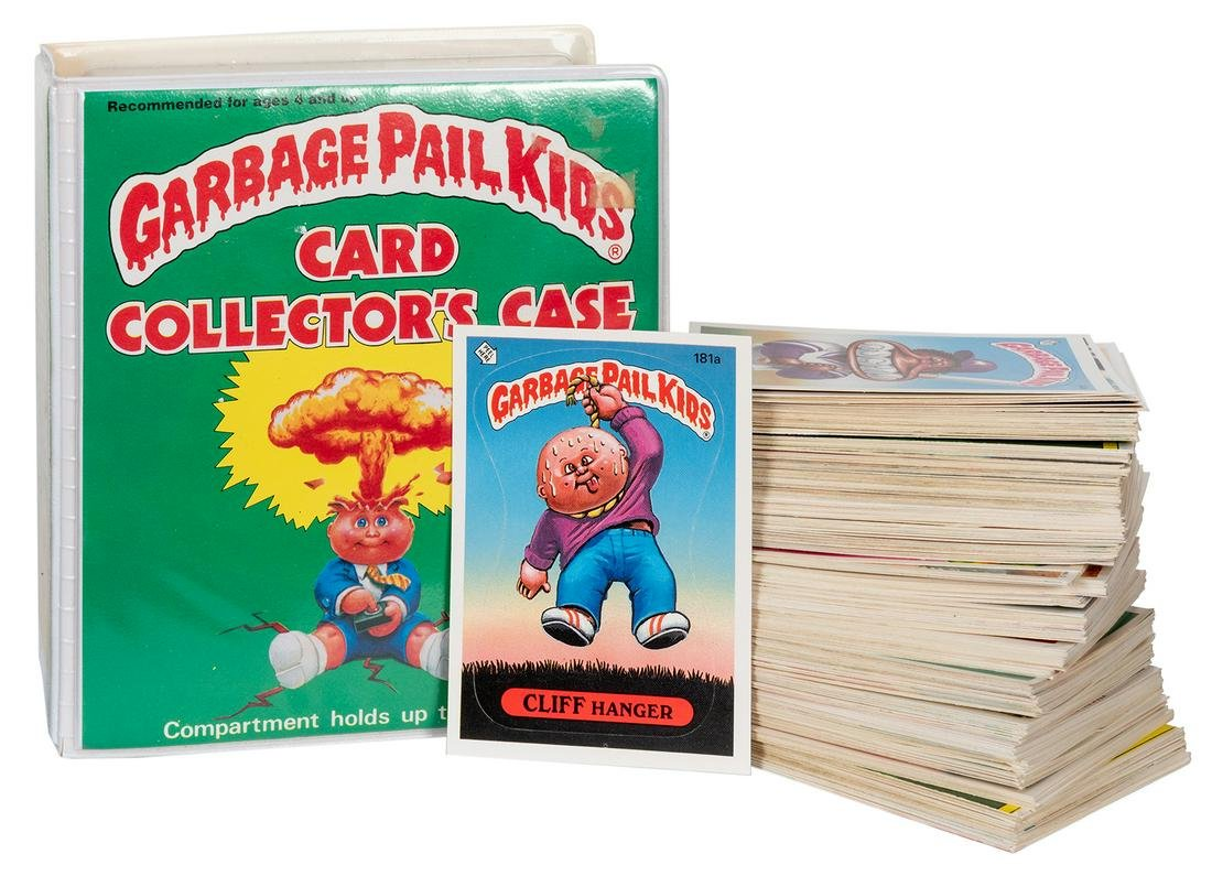 Garbage Pail Kids Cards and Collector's Case.
