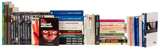 Collection of Italian Books on Magic and Conjuring.