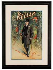 """Kellar. """"A Walk in the Woods"""" Lithograph."""