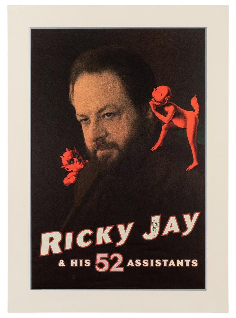 Ricky Jay and His 52 Assistants, Signed Poster.