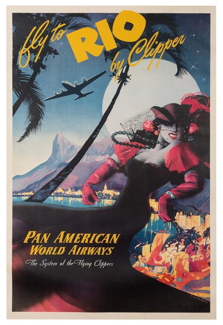 Arenburg, Mark von. Fly to Rio by Clipper. Pan