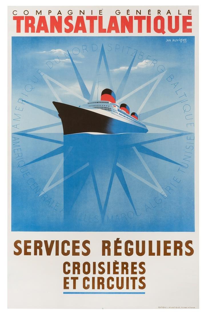 Auvigne, Jean. Transatlantique. France, 1947.