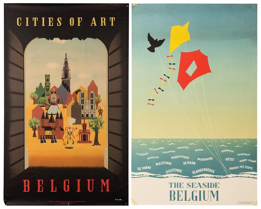 Belgium. Two 1950s Travel Posters.