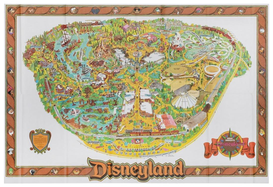 Disneyland 1989 Souvenir Map.