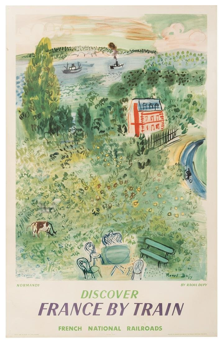 Dufy, Raoul (1877-1953). France by Train. Normandy.