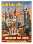 Salt Lake City. Western Air Lines.