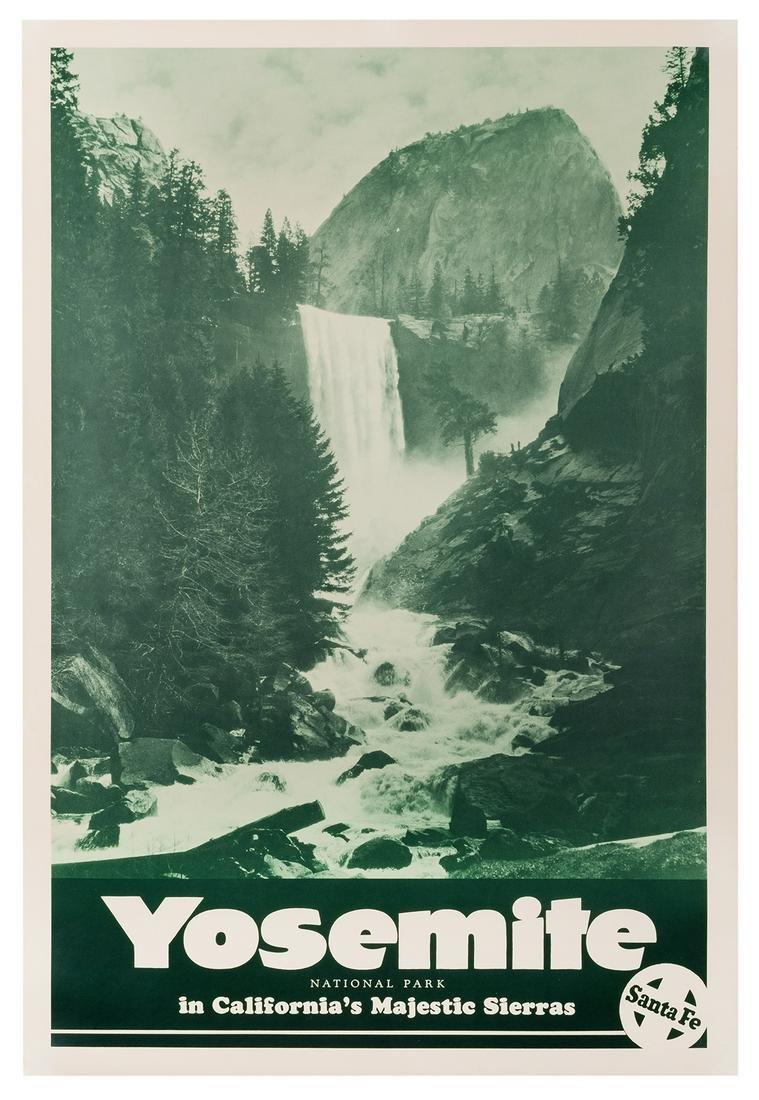 Santa Fe Railways. Yosemite National Park.