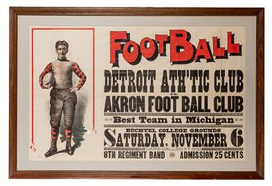 [Sports—Football] Early Football Lithograph