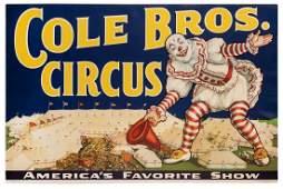 Cole Bros Circus America8217s Favorite Show