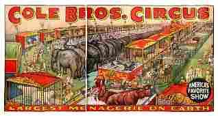 Cole Bros Circus Menagerie8212Gigantic Billboard