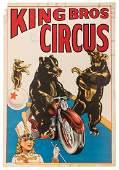 King Bros. Circus. Performing Bears.