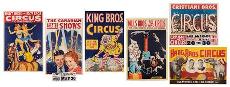 Group of 6 Vintage Circus Posters.