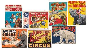 Group of 7 Circus Posters.
