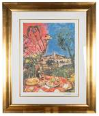Chagall, Marc (after). Laid Table with View of