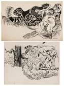 Two Pieces of Original Illustration Art.